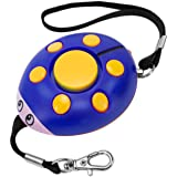 GT ROAD Emergency Personal Alarm, 130dB Super Loud Self Defense Siren Back Up Whistle and Bag Decoration, Ideal Gift for Kids, Girls and Elderly Safety, Batteries Included (Blue/Yellow)