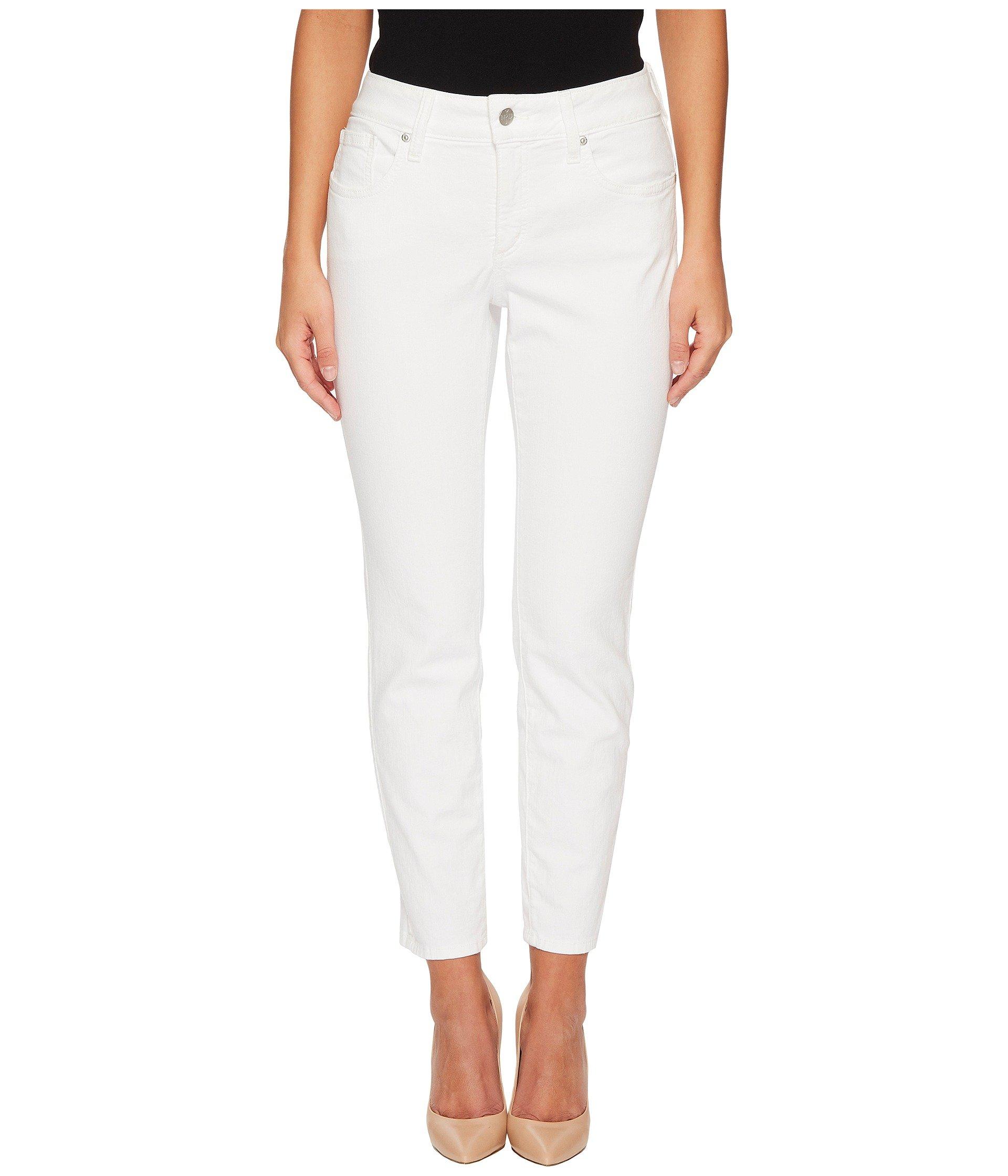 NYDJ Women's Petite Size Alina Ankle Jeans, Deep Optic White, 4P