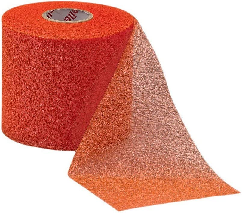 Mueller M-Wrap Pre wrap for Athletic Tape (Big Orange, 1 Roll)