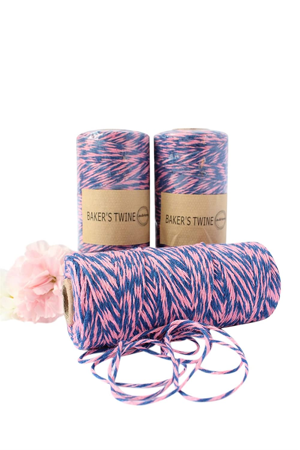135 Meter Length Spool // Roll 8ply Cotton Bakers Divine butchers Twine Craft String Brown+White