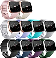 ATUP Replacement Bands Compatible for Fitbit Versa Band/Fitbit Versa Lite Band, Classic Accessory Sport Band Strap for...