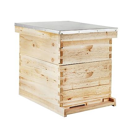 Amazon.com : Happybuy Beehive 20 Frame Bee Hive 10 Deep and 10 ...