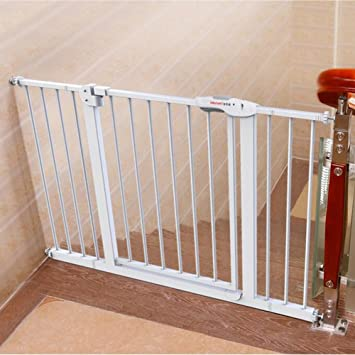 Amazon Com Extra Wide Baby Gate With Pet Door Attach To Banister