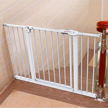 Indoor Safety Gates Extra Wide Baby Gate With Pet Door Attach To