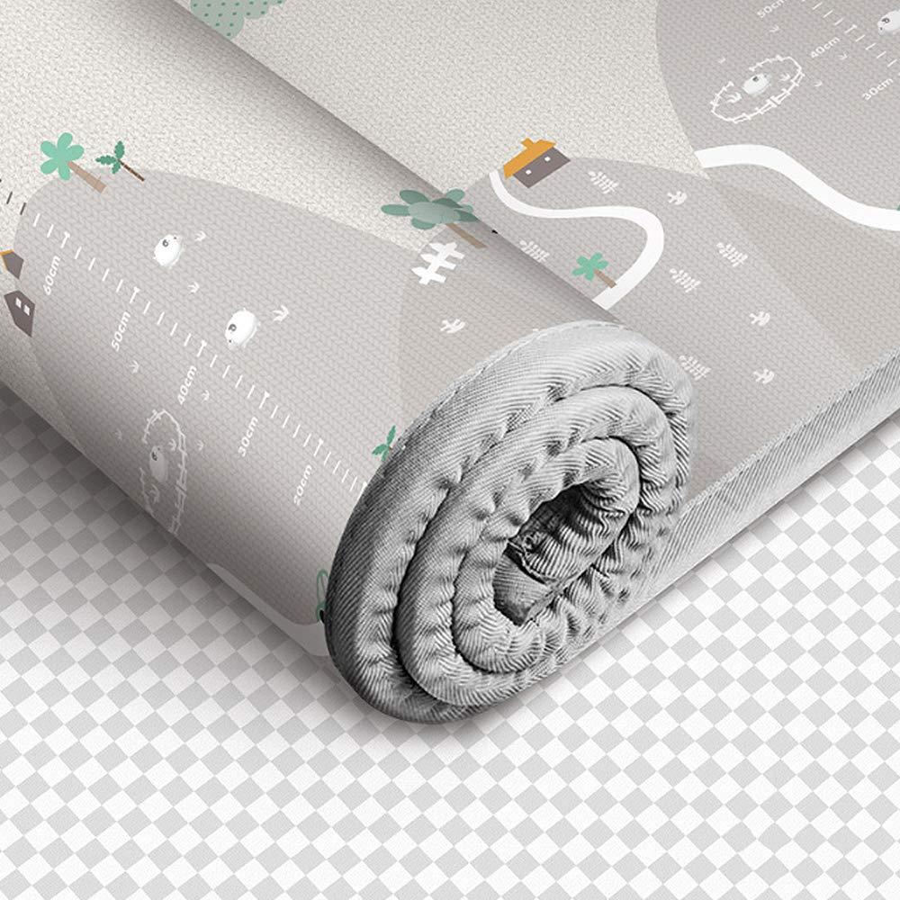 Impermeable de Seda no t/óxica Gruesa de Doble Cara para beb/és y ni/ños Alfombrilla de beb/é para Gatear Extra Grande de 79 x 71 Pulgadas Blanketswarm Alfombra de Juego para ni/ños