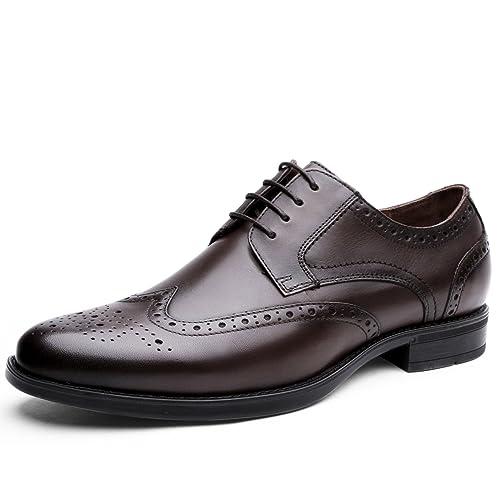 Desai Scarpe Eleganti Uomo Stringate Oxfords Comfort Pelle Brogue Vestito  Scarpe b74c34a52d9