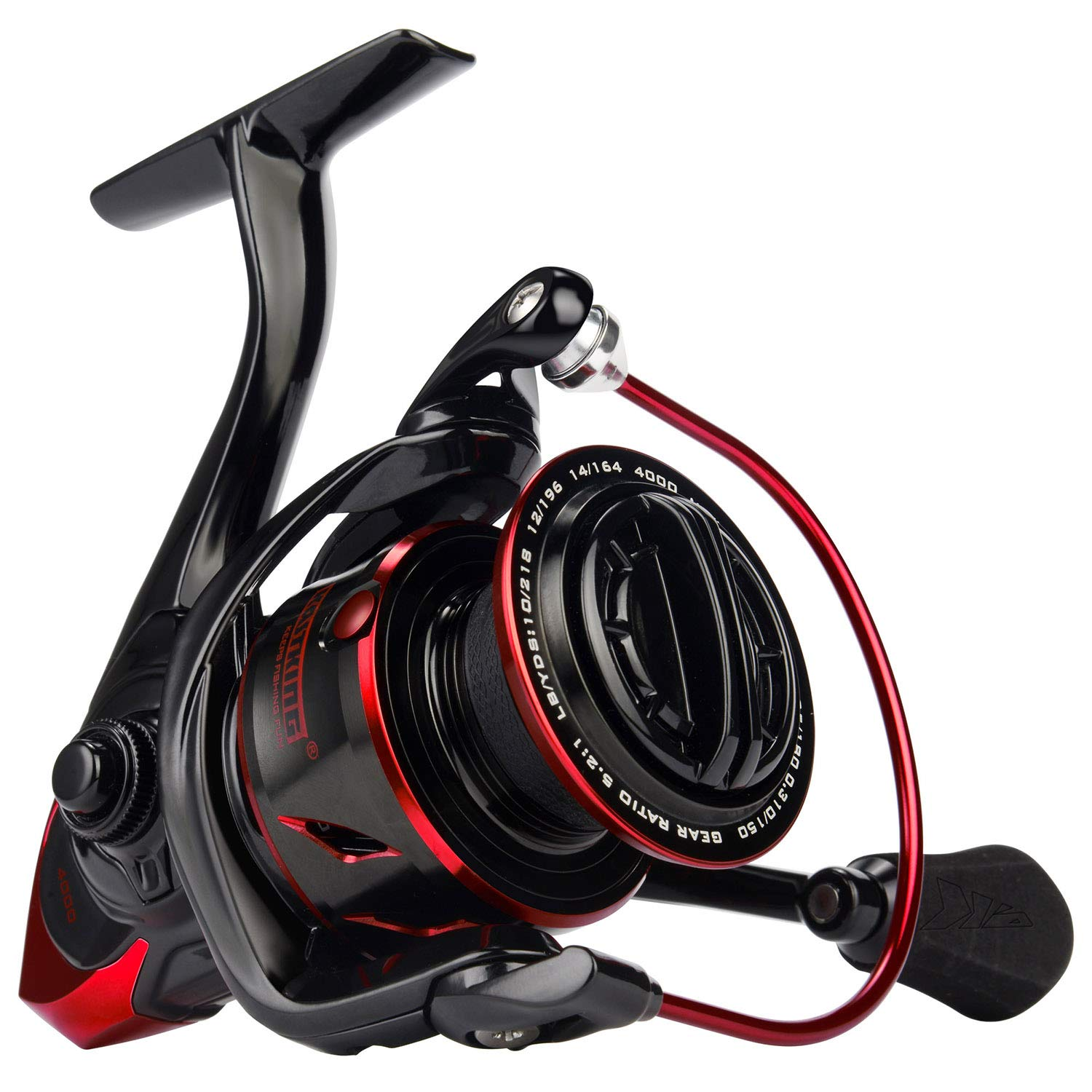 KastKing Sharky III Fishing Reel - New Spinning Reel - Carbon Fiber 39.5 LBs Max Drag - 10+1 Stainless BB for Saltwater or Freshwater - Oversize Shaft -...
