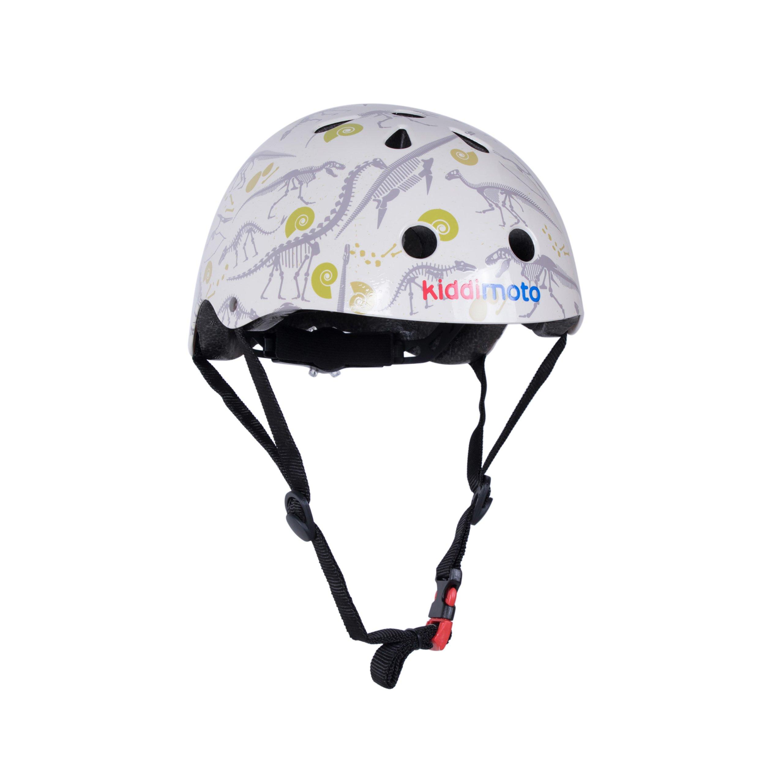 Kiddimoto Kids Patterned Helmet (Fossil, Medium)