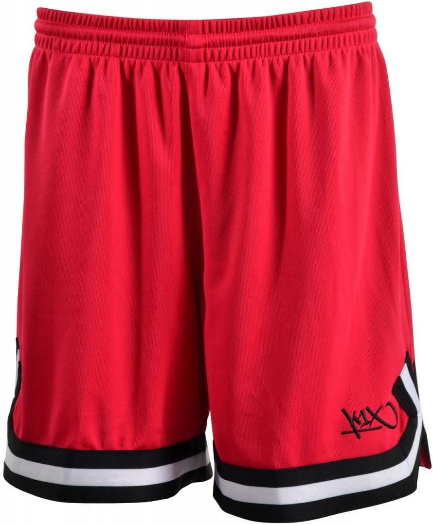 K1X Hardwood Double X Shorts mk2 Basketball kirschrot-schwarz-wei/ß Damen kirschrot//schwarz//wei/ß S