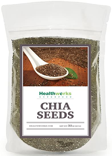 Healthworks Chia Seeds Raw Pesticide and Chemical-Free, 2lb