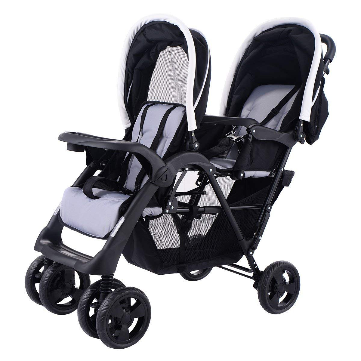 Honey Joy-Double Stroller Pushchair Convenience