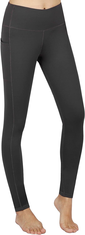 Zinmore Womens High Waist Yoga Capri Pants Running Workout Leggings with Pockets