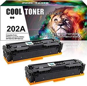 Cool Toner Compatible Toner Cartridge Replacement for HP202A CF500A 202X CF500X for HP Laserjet Pro MFP M281fdw M254dw M281cdw M281fdn M280nw M254dn M254nw Toner (Black,2-Pack)