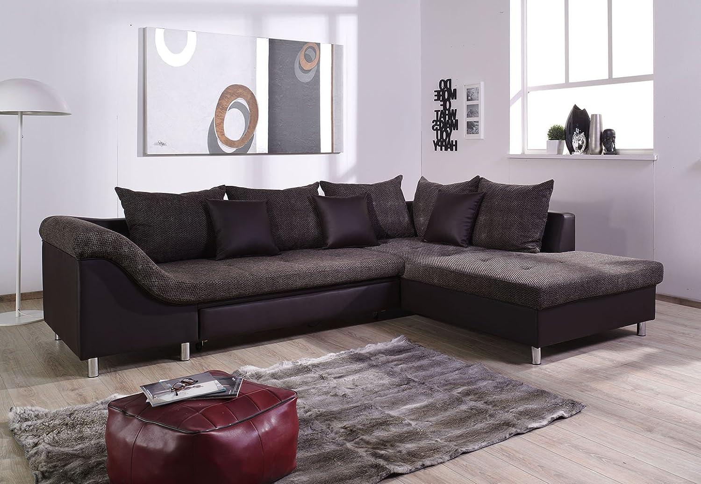 Verzauberkunst Couchgarnitur L Form Ideen Von Delta L-form Schlaffunktion Kunstleder 285x215cm Braun/braun, Ottomane