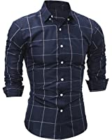 Special Beauty Handsome,Slim New Male Fashion Brand Casual Business Slim Fit Men Shirt Camisa Long Sleeve Plaid Social Shirts Dress Clothing Cool