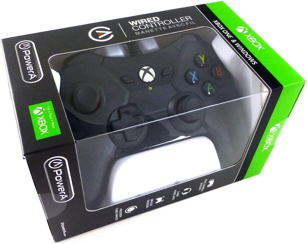 Amazon.com: PowerA Wired Controller for Xbox One - Black: Video Games