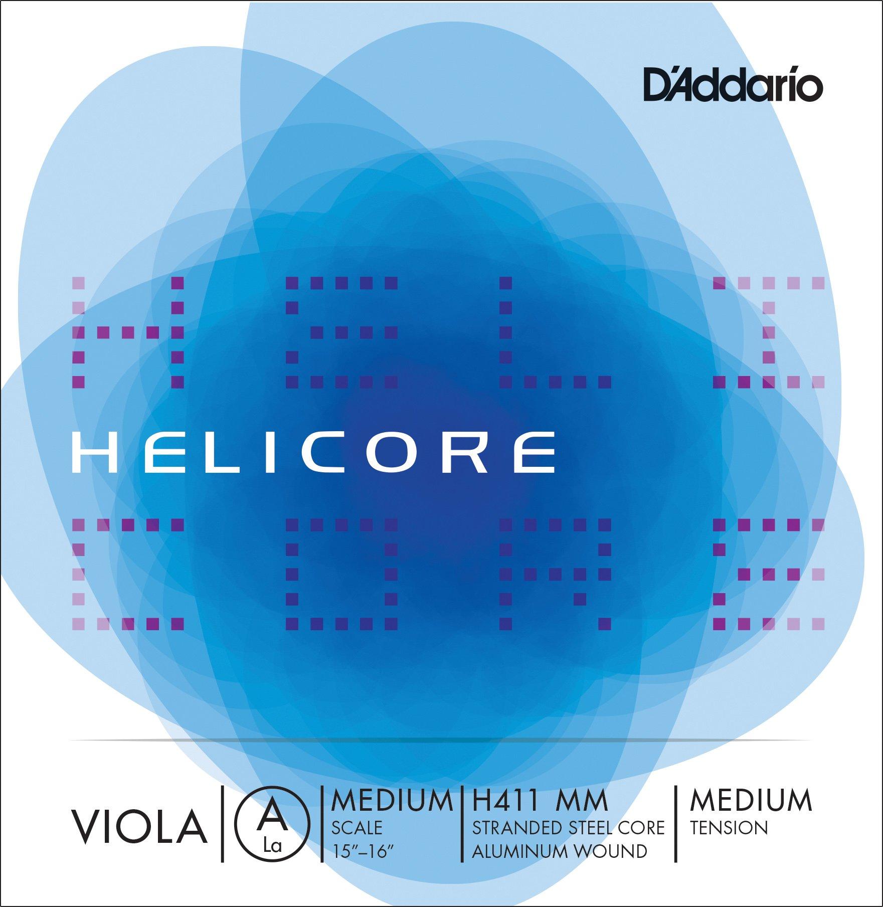 D'Addario Helicore Viola Single A String, Medium Scale, Medium Tension