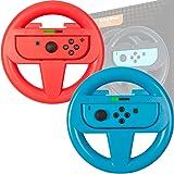 Volante Orzly per Nintendo Switch (CONFEZIONE DOPPIA) – Confezione di Accessori ROSSI & BLU per i Telecomandi Joy-Con del Nintendo Switch