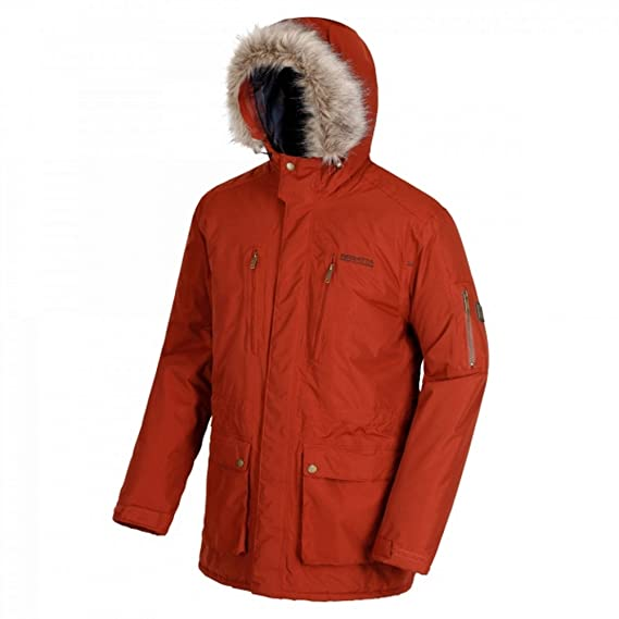 8e279094cef2 Regatta Men's Salinger Waterproof and Breathable Insulated Hooded Jacket:  Amazon.co.uk: Clothing