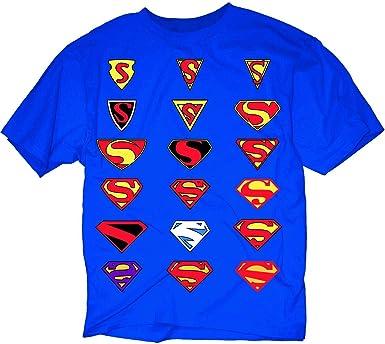 Evolution Of Superman Symbol Blue Camiseta: Amazon.es: Deportes y aire libre
