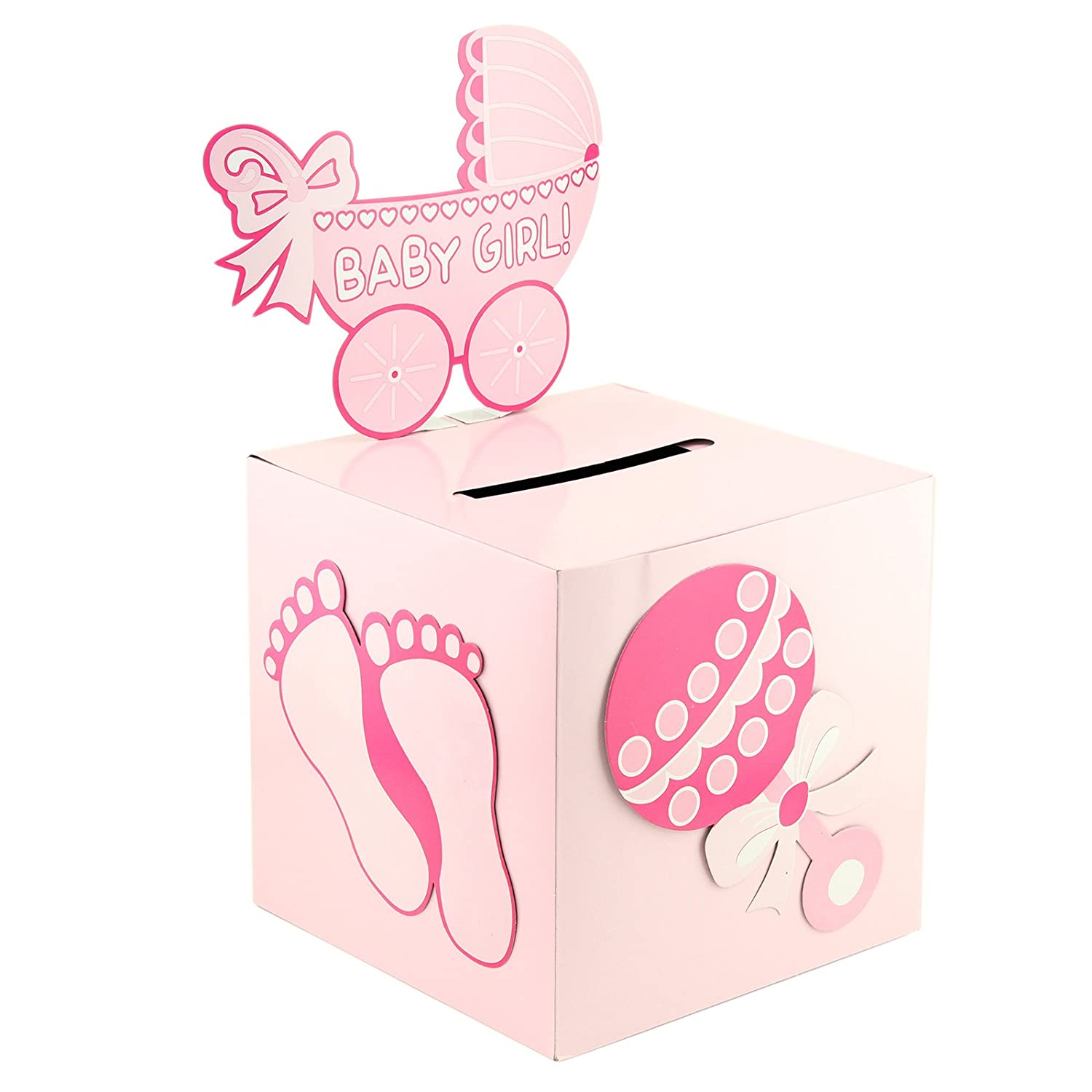 Tytroy Baby Shower Wishing Well Card Box Cute Decoration Rattle