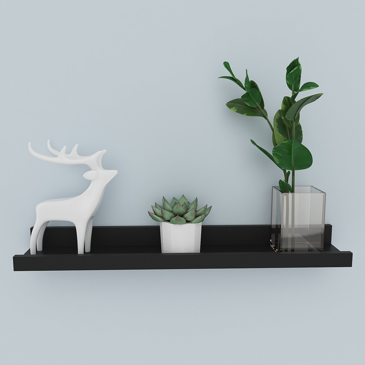 Leoneva Floating Picture Display Ledge Wall Mount Shelf Storage Easy Install 23.6inch