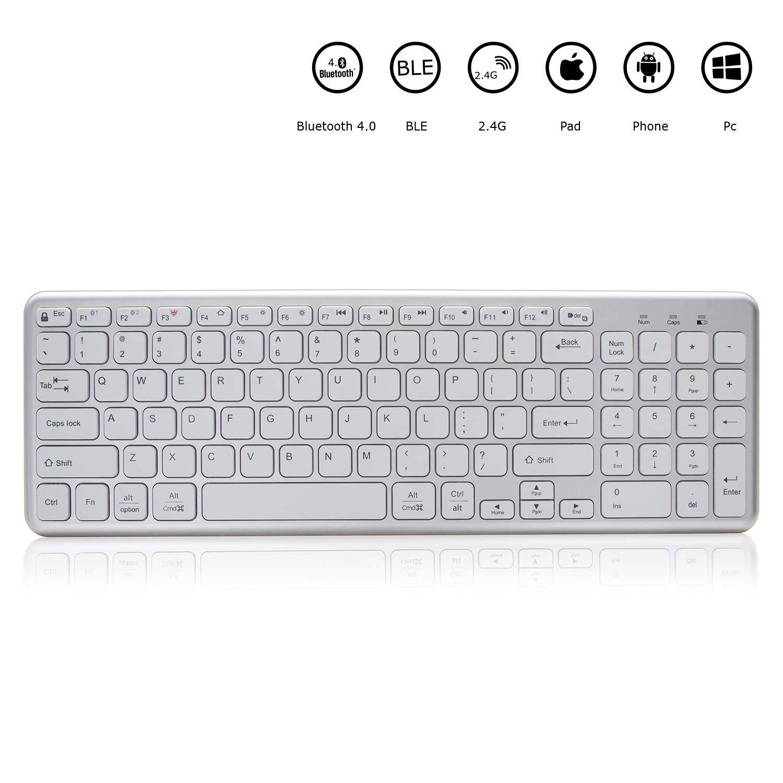 4abec86682f Bluetooth Keyboard for mac,Full Size switchable Multi-Device Keyboard, Wireless  Keyboard for mac with Numeric keypad,Keyboard Wireless for Mac,Windows,iOS  ...