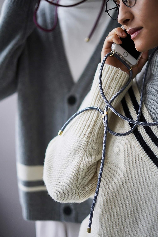 Funda para iPhone//Samsung//Huawei con Correa Colgante con Cordon para Llevar en el Cuello Hecho a Mano en Berlin KNOK Case Carcasa de movil con Cuerda para Colgar iPhone 11 Pro MAX