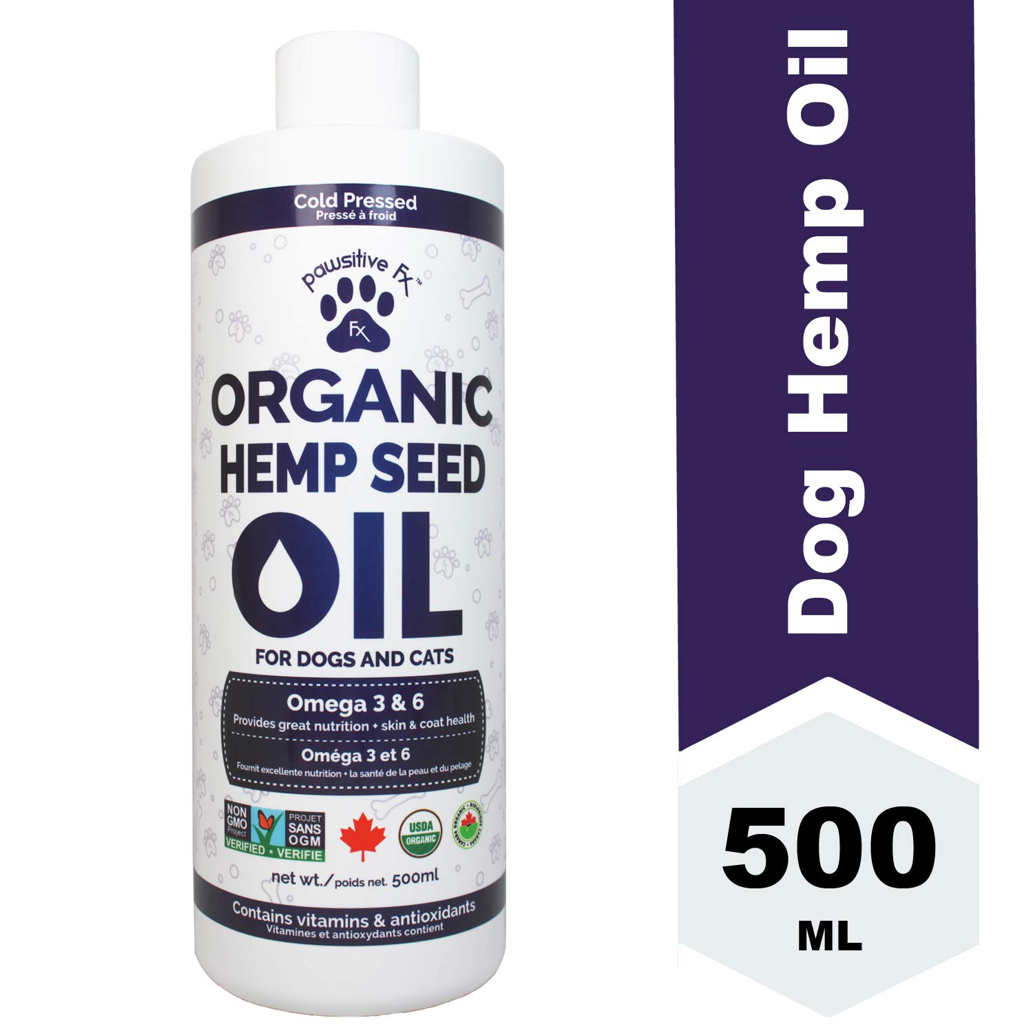 Hemp Seed Oil Dog - NATERA Safer Than Fish Oil, Organic Pet Skin and Coat Supplement, Hip Join Health by CHISOFT