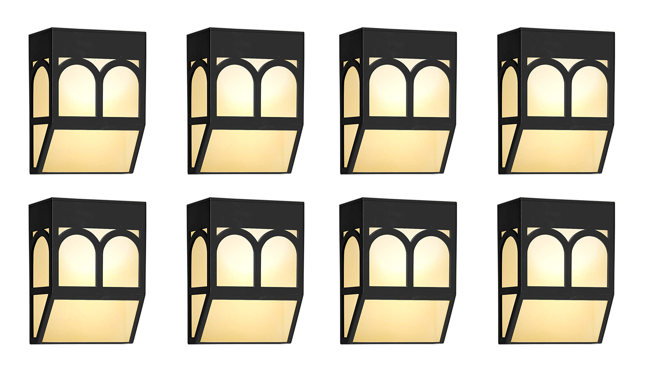 Solar Powered Color Changing Mount Light Outdoor Landscape Garden Yard Fence Warm White (8)