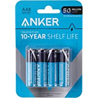 Anker AA Alkaline Batteries 8-pack - Black