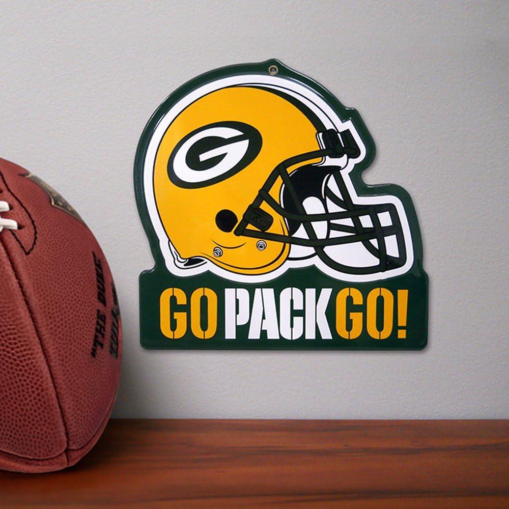 8 x 8 Party Animal NFL Embossed Metal Helmet Sign