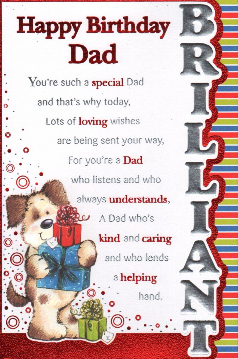 Dad Birthday Card Happy Birthday Dad Amazoncouk Office Products – Birthday Cards for Nephew