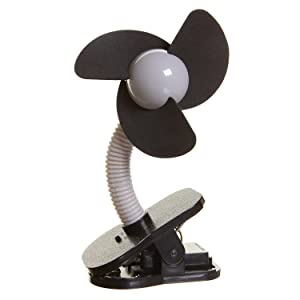 Dreambaby Clip-On Fan (Black With Silver)