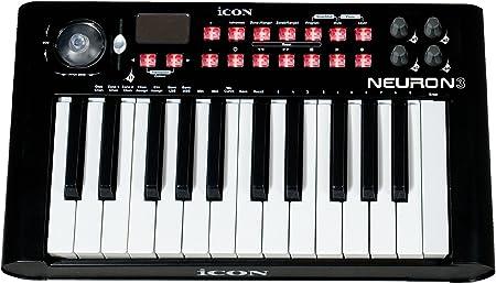 Icon Neuron 3 - Teclado maestro MIDI 25 teclas, color negro