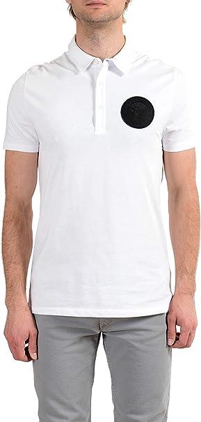 Versace Collection Men's White Logo Short Sleeve Polo T-Shirt Sz ...