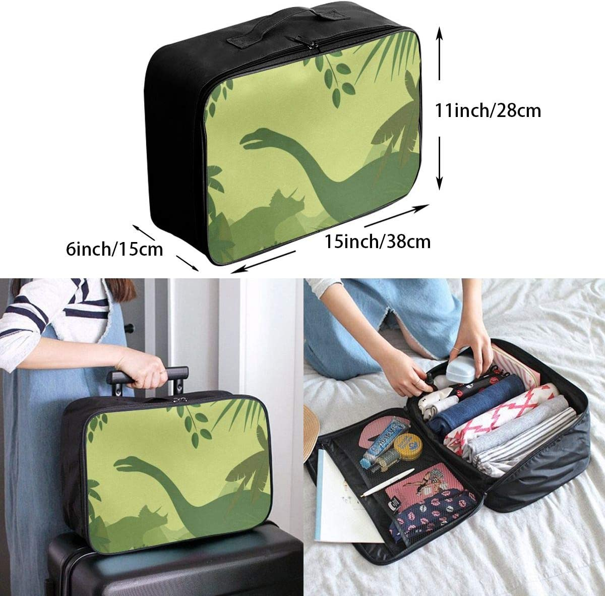 Travel Bags Dinosaurs Silhouette Portable Suitcase Inspiring Trolley Handle Luggage Bag
