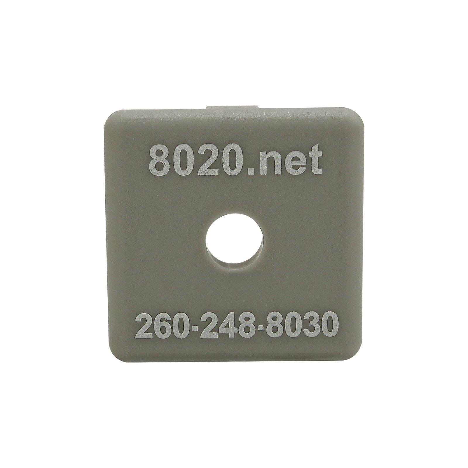 80/20 Inc., 2030GRA, 15 Series, 1515/1515-Lite End Cap, Gray, with Push-Ins (25 Pack) by 80/20 Inc