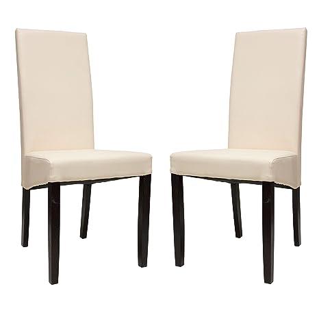 Amazon.com - Premium Tobago Cream Dining Chairs Set by ...