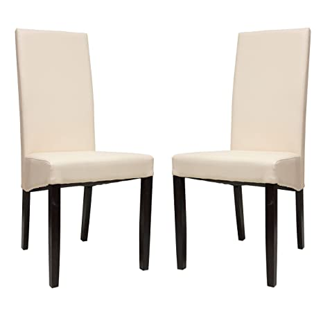 Pleasant Amazon Com Premium Tobago Cream Dining Chairs Set By Machost Co Dining Chair Design Ideas Machostcouk