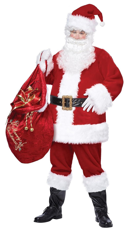 sc 1 st  Amazon.com & Amazon.com: California Costumes Menu0027s Deluxe Santa Suit Adult: Clothing