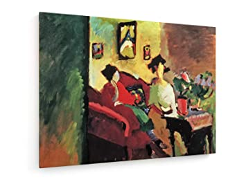 Wassily kandinsky interieur mit frauen 100x75 cm leinwandbild