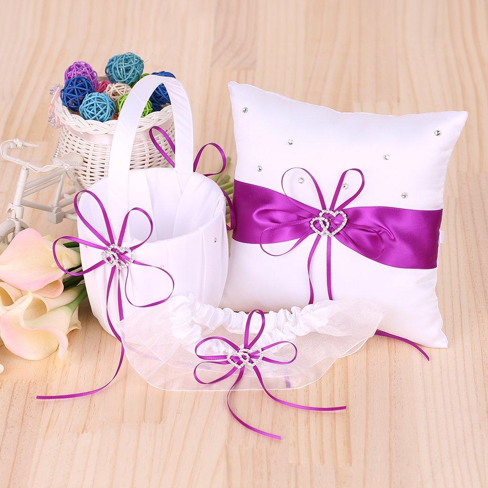 Amazon.com: Decdeal 5pcs/set Wedding Supplies Flower Basket + Ring ...