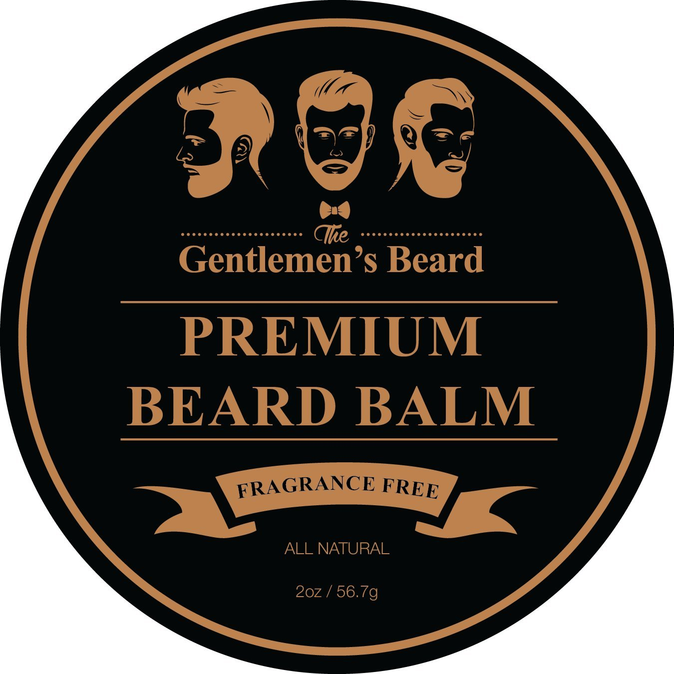 The Gentlemen's Beard - Premium Beard Balm Leave-in Conditioner & Softener - Fragrance Free - 2oz