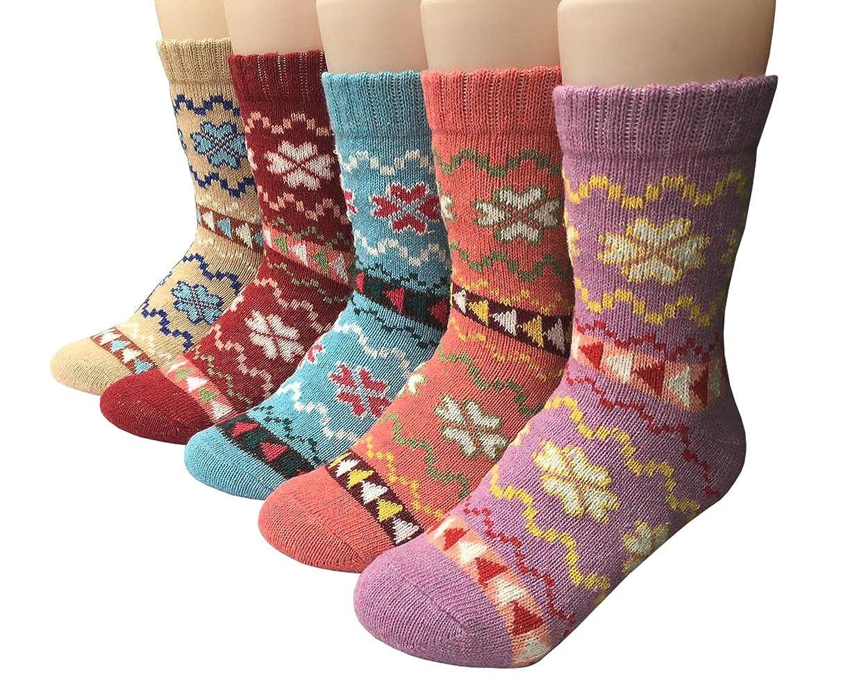 Tencoz Calze di Lana 6Pack Le calze di lana da donna donne calzini inverno caldo morbido annata per linverno