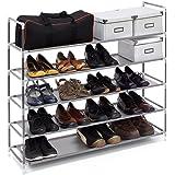 Gut Relaxdays Schuhregal Mit 5 Ablagen, Schuhablage Für 20 Paar Schuhe,  Beliebig Erweiterbar, HxBxT