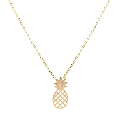 cut homebello gold pendant diamond pineapple
