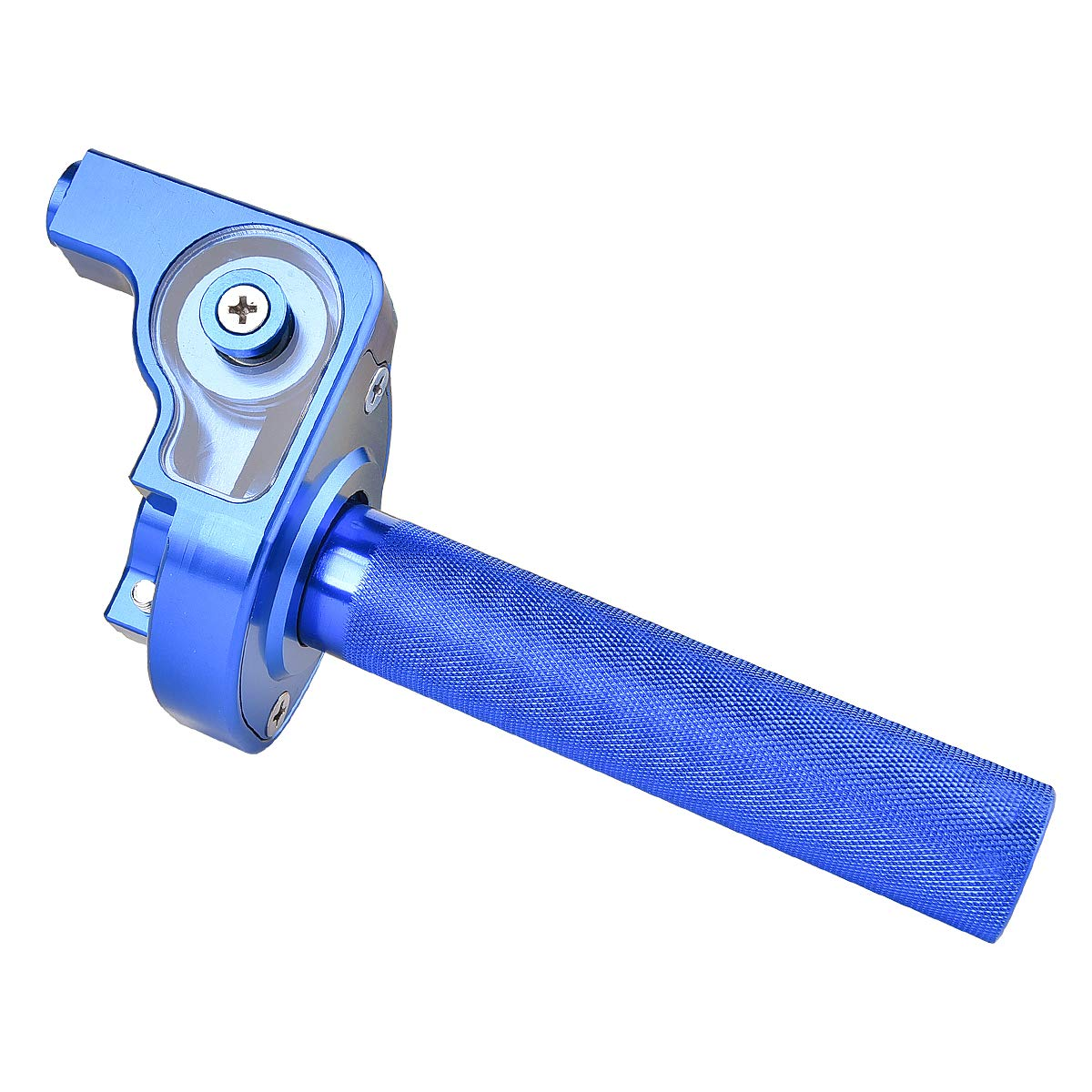 1//4 Turn Fast Action Throttle Assembly CNC Anodized Aluminum for CR80 CR85 CR125 CR250 CR500 BLUE MTATCN