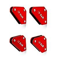 S&R Mini Aimants de soudure jeu de 4 pièces 58 x 50 mm avec angle 45 °, 90 °, 135 °, capacité jusqu'à 4 kg