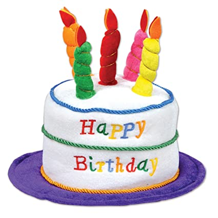 Image Unavailable Not Available For Color Beistle Plush Birthday Cake Hat
